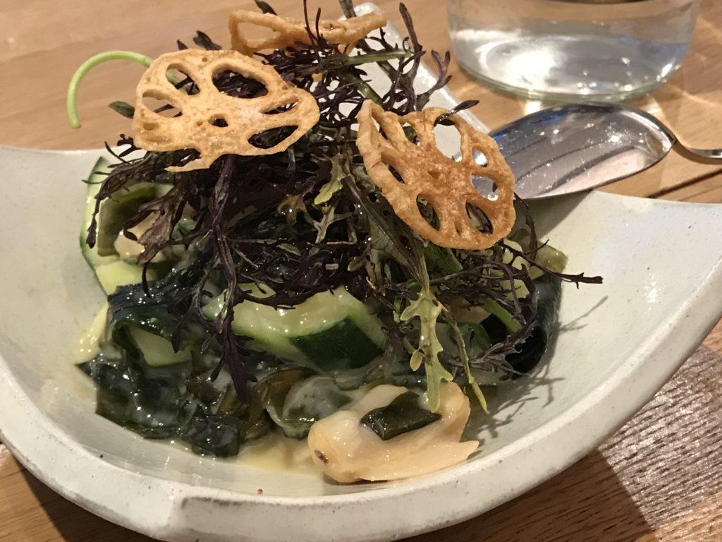 otonali praires aux algues et concombre au sumiso