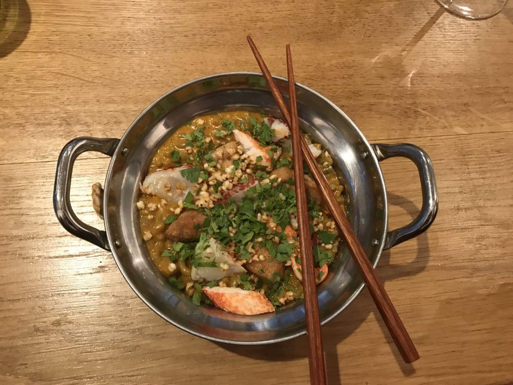otonali coquillettes de sarrasin homard breton ris de veau sauce homard